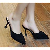 baratos Sapatos Femininos-Mulheres Sapatos Pêlo Sintético Primavera Conforto Tamancos e Mules Salto Agulha Preto / Amarelo / Rosa claro