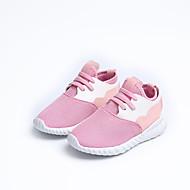 baratos Sapatos de Menina-Para Meninas Sapatos Com Transparência / Couro Ecológico Primavera Verão Conforto Tênis Caminhada para Adolescente Cinzento / Rosa claro