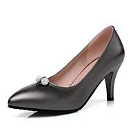 baratos Sapatos Femininos-Mulheres Sapatos Couro Ecológico Inverno Plataforma Básica Saltos Salto Agulha Branco / Preto / Rosa claro