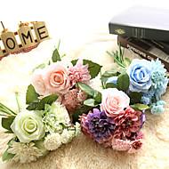 billige Kunstige blomster-Kunstige blomster 1 Gren Klassisk Stilfull Roser Bordblomst
