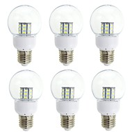 WeiXuan 6stk 4 W 350 lm E26 / E27 LED-globepærer 27 LED Perler SMD 5730 Dekorativ Varm hvid / Kold hvid 12-24 V