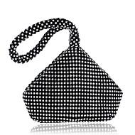 baratos Clutches & Bolsas de Noite-Mulheres Bolsas Poliéster / Liga Bolsa de Festa Detalhes em Cristal Dourado / Preto / Prateado