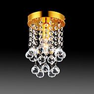 billiga Belysning-semi-flush mount taklampa moderna led kristall ljuskrona krom 1-ljus matsal sovrum taklampa