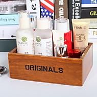 tanie Przechowywanie biżuterii-Przechowywanie Organizacja Kosmetyczny makijaż organizator Drewniany Kształt prostokąta Nieosłonięty