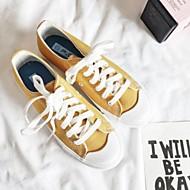 baratos Sapatos Femininos-Mulheres Sapatos Confortáveis Lona Primavera Verão Tênis Sem Salto Branco / Preto / Amarelo