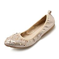 baratos Sapatos Femininos-Mulheres Sapatos Couro Ecológico Primavera / Verão Conforto Rasos Sem Salto Dedo Fechado Dourado / Prata