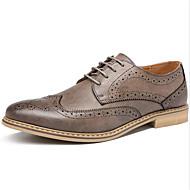baratos Sapatos Masculinos-Homens Sapatos formais Couro Sintético Outono & inverno Oxfords Listrado Preto / Cinzento / Amarelo / Festas & Noite