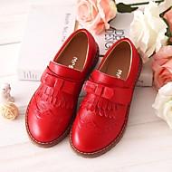 baratos Sapatos de Menina-Para Meninas Sapatos Pele Primavera & Outono Conforto Mocassins e Slip-Ons para Preto / Vermelho / Rosa claro