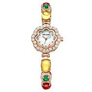 billige Quartz-MEGIR Dame Damer Kjoleur Armbåndsur Japansk Quartz 30 m Vandafvisende Kreativ Nyt Design Kobber Bånd Analog Luksus Perler Rose Guld - Rose Guld / Imiteret Diamant