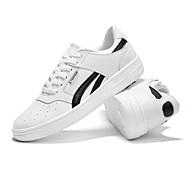 baratos Sapatos Masculinos-Homens Sapatos Confortáveis Microfibra Primavera / Outono Clássico Tênis Respirável Branco / Preto