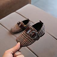 baratos Sapatos de Menina-Para Meninas Sapatos Sintéticos Outono Primeiros Passos Mocassins e Slip-Ons Velcro para Bebê Preto / Marron / Ponta quadrada