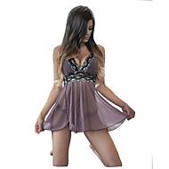 สำหรับผู้หญิง Sexy ชุด เสื้อนอน - ลูกไม้ สีพื้น / คอวีลึก