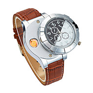 Men's Wrist Watch Japanese Chronograph / Creative / New Design PU Band Luxury / Bangle Black / Brown