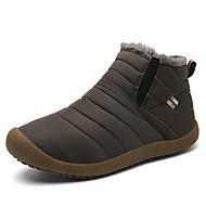 baratos Sapatos Femininos-Mulheres Sapatos Tecido elástico Inverno Botas de Neve / Forro de fluff Botas Sem Salto Preto / Azul Escuro / Cinzento