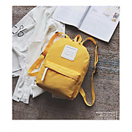 baratos Mochilas-Unisexo Bolsas Tela de pintura mochila Cor Única Preto / Vermelho / Amarelo