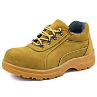 baratos Sapatos Masculinos-Homens Pele Outono / Inverno Coturnos Oxfords Não escorregar Azul Escuro / Amarelo
