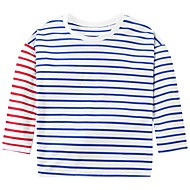 Kids Girls' Basic Striped Long Sleeve Polyester Tee Blue