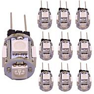 billige Bi-pin lamper med LED-WeiXuan 10pcs 1 W 80 lm G4 LED-lamper med G-sokkel T 5 LED perler SMD 5050 Dekorativ Varm hvit / Kjølig hvit / Rød 12 V