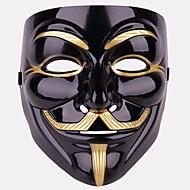 baratos -Decorações de férias Decorações de Halloween Máscaras de Dia das Bruxas Decorativa / Legal Preto 1pç