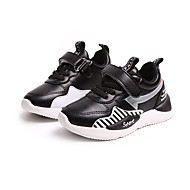 baratos Sapatos de Menino-Para Meninos Sapatos Couro Ecológico Primavera & Outono Conforto Rasos Caminhada Rendado para Infantil Preto / Rosa claro