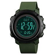 billige Militærur-SKMEI Herre / Dame Sportsur / Militærur Japansk Alarm / Kalender / Kronograf PU Bånd Afslappet / Mode Sort / Grøn