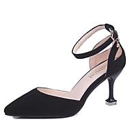baratos Sapatos Femininos-Mulheres Sapatos Couro Ecológico Verão D'Orsay Saltos Salto Agulha Dedo Apontado Lantejoulas Preto / Vermelho