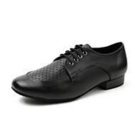 billige Moderne sko-Herre Moderne sko Lær Joggesko Tvinning Tykk hæl Dansesko Svart
