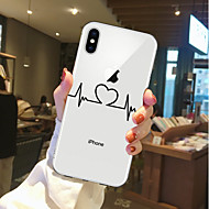billiga Mobil cases & Skärmskydd-fodral Till Apple iPhone X / iPhone 8 Genomskinlig / Mönster Skal Hjärta Mjukt TPU för iPhone X / iPhone 8 Plus / iPhone 8