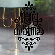 baratos Películas e Adesivos de Janela-Filme de Janelas e Adesivos Decoração Natal Sólido PVC Adesivo de Janela / Sala de Estar / Shop / Cafe
