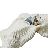 billige Hjemmetekstiler-Super Myk, Reaktivt Trykk Ensfarget / Stripet Akryl Fiber tepper