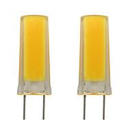 billige Bi-pin lamper med LED-3w g8 silikon led lampe smd 0930 cob hjemme belysning lysekrone ac 220v varm / kald hvit (2 stk)