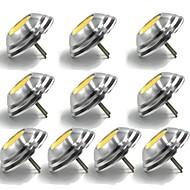billige Bi-pin lamper med LED-10pcs 1.5 W 100 lm G4 LED-lamper med G-sokkel T 1 LED perler COB Dekorativ Varm hvit / Kjølig hvit 12 V