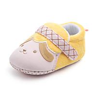 baratos Sapatos de Menina-Para Meninas Sapatos Algodão Primavera & Outono Primeiros Passos Tênis Velcro para Bebê Amarelo / Azul / Rosa claro / Estampa Colorida