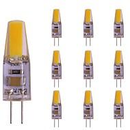 baratos Luzes LED de Dois Pinos-10pçs 2 W 180 lm G4 Luminárias de LED  Duplo-Pin T 1 Contas LED COB Novo Design Branco Quente 220-240 V