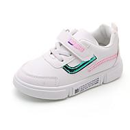 baratos Sapatos de Menino-Para Meninos / Para Meninas Sapatos Couro Ecológico Primavera & Outono / Primavera Verão Conforto Tênis Caminhada Cadarço / Combinação / Velcro para Infantil Vermelho / Verde / Slogan