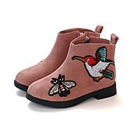 baratos Sapatos de Menina-Para Meninas Sapatos Cetim Inverno / Outono & inverno Botas da Moda Botas Caminhada Ziper para Infantil / Adolescente Marron / Rosa claro / Vinho / Botas Curtas / Ankle
