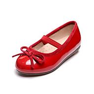 baratos Sapatos de Menina-Para Meninas Sapatos Couro Sintético Primavera & Outono Conforto Rasos Laço para Infantil Vermelho / Azul