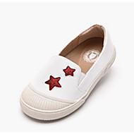 baratos Sapatos de Menina-Para Meninas Sapatos Couro Sintético / Couro Ecológico Primavera & Outono Conforto Mocassins e Slip-Ons para Branco / Preto / Cinzento