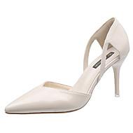 baratos Sapatos Femininos-Mulheres Couro Ecológico Verão Plataforma Básica Saltos Salto Agulha Dedo Apontado Bege / Khaki