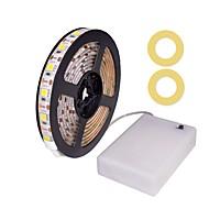 billiga Belysning-ZDM® 1m Flexibla LED-ljusslingor 60 lysdioder SMD5050 Varmvit / Kallvit / Röd Vattentät / Dekorativ / Självhäftande AA Batterier Drivs 1set