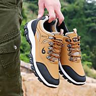 baratos Sapatos Masculinos-Homens Couro Ecológico Outono Conforto Tênis Aventura Estampa Colorida Preto / Cinzento / Amarelo