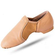 billige Jazz-sko-Dame Jazz-sko Griseskinn Flate Flat hæl Dansesko Svart / Mandel
