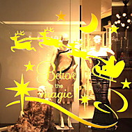 baratos Películas e Adesivos de Janela-Filme de Janelas e Adesivos Decoração Natal Férias PVC Adesivo de Janela / Shop / Cafe
