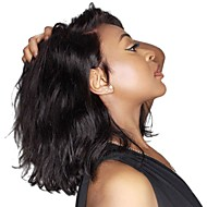 Pelucas sintéticas / Peluca Lace Front Sintéticas Ondulado Kardashian Estilo Parte lateral Encaje Frontal Peluca Negro Negro Natural Marrón Oscuro Pelo sintético 14 pulgada Mujer Gran venta / Moda