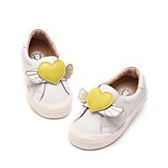 baratos Sapatos de Menina-Para Meninas Sapatos Couro Sintético Primavera & Outono Conforto Mocassins e Slip-Ons Elástico para Infantil / Adolescente Branco / Cinzento