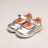 baratos Sapatos de Menina-Para Meninas Sapatos Microfibra Verão Conforto Rasos Velcro para Bébé Prateado / Vermelho