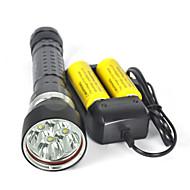 ieftine -8000 lm Lanterne LED / Lanterne de Scufundări / Lanterne  Manuale LED 4.0 Mod Rezistent la apă / Profesional / Anti-Şoc