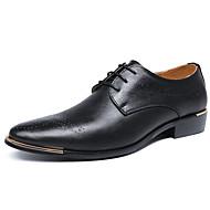 baratos Sapatos Masculinos-Homens Sapatos formais Couro Sintético Outono & inverno Negócio Oxfords Não escorregar Preto / Amarelo / Festas & Noite