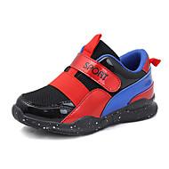 baratos Sapatos de Menina-Para Meninas Sapatos Couro Ecológico Primavera Verão Conforto Tênis Caminhada para Adolescente Preto / Prata / Vermelho