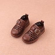 baratos Sapatos de Menina-Para Meninas Sapatos Couro Ecológico Verão Primeiros Passos Tênis Velcro para Bebê Bege / Marron / Verde
